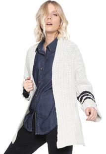 Cardigan Osklen Tricot Stripes E-Fabrics Off-White