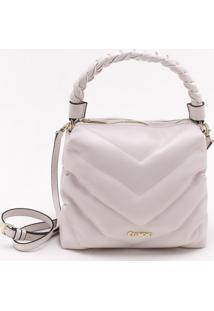 Bolsa Shoulder Bag Matelassê Marfim
