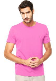 Camiseta Tommy Hilfiger Bordado Rosa