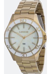 Kit Relógio Feminino Lince Lrgj067L Ku94B1Kx Analógico 5Atm + Conjunto Semijóia