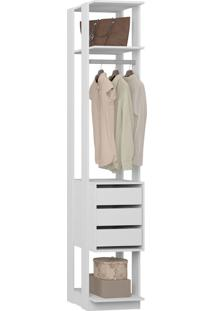 Guarda-Roupa Closet 3 Gavetas 41 Cm Branco - Bentec