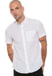 Camisa Lacoste Slim Quadriculada Off-White