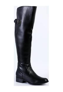 Bota Feminina Over The Knee Via Uno 050370Sbacv