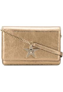 Jimmy Choo Palace Wallet-On-Chain - Dourado