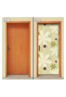 Adesivo Decorativo De Porta - Flores - 1681Cnpt