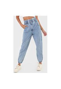 Calça Jeans Colcci Jogger Babados Azul