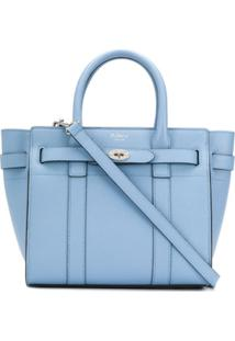 Mulberry Mini Zipped Bayswater Bag - Azul