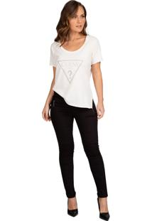Camiseta Guess Logo Brilhos - Estampado - Feminino - Dafiti