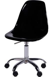 Cadeira Eames Dkr Or-1101Rpc Com Rodízio – Or Design - Preto