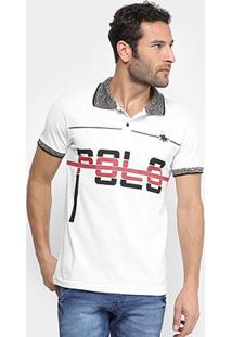 Camisa Polo Rg 518 Piquet - Masculino-Branco