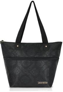 Bolsa Expansível Jacki Design Estampada - Feminino-Preto