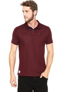 Camisa Polo Ecko Piquet Vinho