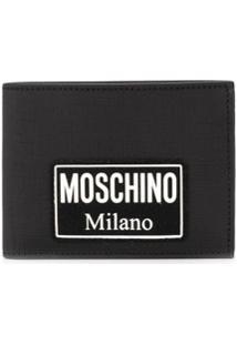 Moschino Carteira Com Logo - Preto