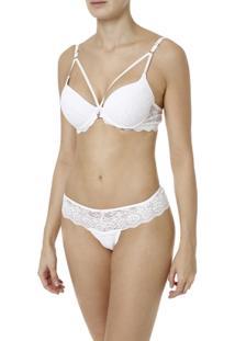 Conjunto De Lingerie Feminino Branco - Feminino