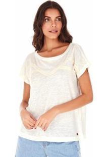 Camiseta Sidewalk Agata Feminina - Feminino-Branco