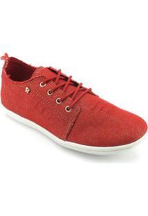 Tênis Cravo E Canela Jeans Feminino - Feminino-Vermelho