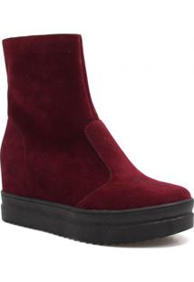 Bota Flatform Zariff Shoes Cano Médio