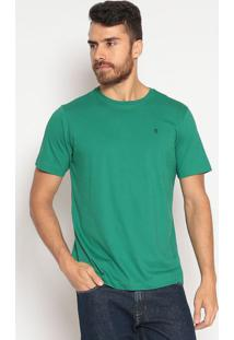 Camiseta Lisa Slim Fit - Verdeindividual