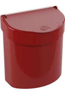 Lixeira De Pia Glass 2,7 Litros Vermelho Bold Coza