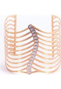 Bracelete Folha Rosê By Cris Arcangeli