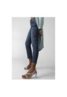 Calça Jeans Forever 21 Cropped Skinny Estonada Azul