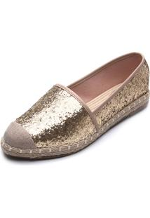 Alpargata Beira Rio Glitter Dourada