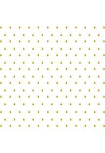Adesivo De Parede Gotinhas Douradas Para Quarto 151Un Cobre 3M2 - Amarelo - Dafiti