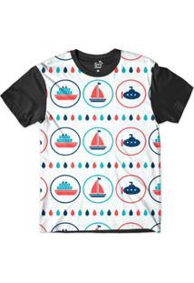 Camiseta Long Beach Náutica Embarcações Sublimada Masculina - Masculino