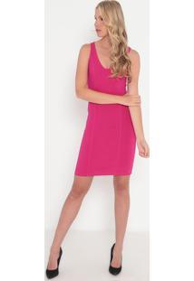 Vestido Com Recorte- Pink- Sommersommer