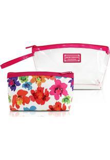 ... Kit Necessaire De 2 Unidades Jacki Design Microfibra + Pvc -  Feminino-Pink c8640b6dac