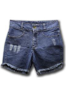 Bermuda Jeans Axia Shop Comfort Azul