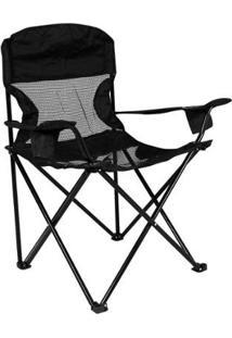 Cadeira Nautika Dobrável Fresno - Unissex-Preto