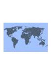 Painel Adesivo De Parede - Mapa Mundi - Mundo - 1366Pnm