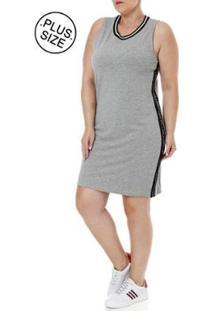 Vestido Plus Size Autentique - Feminino-Cinza