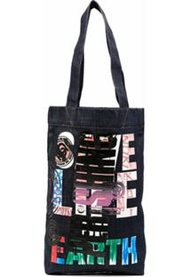 Katharine Hamnett London Perishing Love Denim Tote - Azul