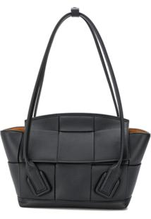 Bottega Veneta Small Arco Leather Bag - Preto