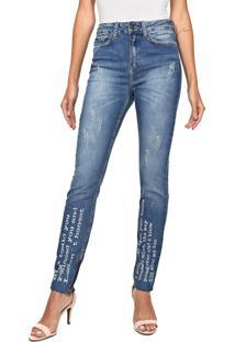 Calça Jeans Carmim Skinny High Line Azul