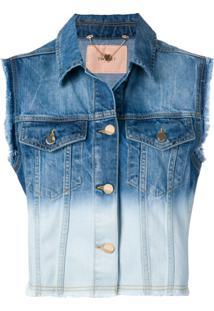 Twin-Set Jaqueta Jeans Desbotada - Azul