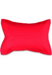 Porta Travesseiro Matelado Avulso Solecasa Vermelho Vermelho