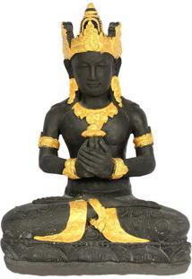 Escultura Brahma Em Cimento 60Cm   Bali