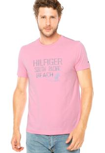 Camiseta Tommy Hilfiger Casual Rosa