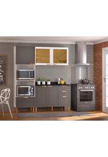 Cozinha Compacta Nevada Ii 5 Pt 4 Gv Grafite E Branca
