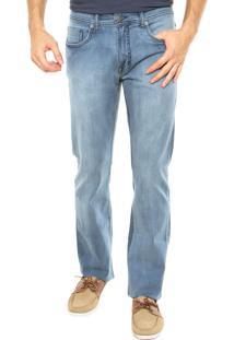 Calça Jeans Vr Reta Bolsos Azul