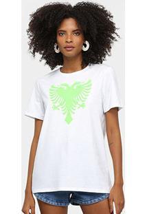 Camiseta Cavalera Tee Classic Cavalera Feminina - Feminino-Branco+Verde