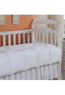 Edredom Baby Pluma De Ganso 233 Fios Branco 120X140Cm Plumasul