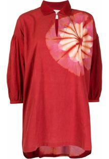 Story Mfg. Blusa Tie-Dye - Vermelho