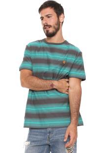 Camiseta ...Lost Listrada Degrade Krew Cinza/Verde