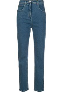 M Missoni Embroidered Logo Jeans - Azul