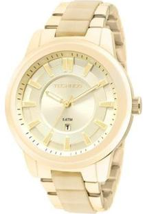 Relógio Technos Unique 2015Bzk/4D Feminino - Feminino-Dourado