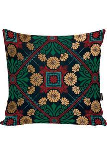 Capa De Almofada Turkish- Preta & Vermelho Escuro- 4Stm Home